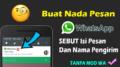 Membuat Notifikasi Whatsapp Menyebut Isi Pesan Dan Nama Pengirim